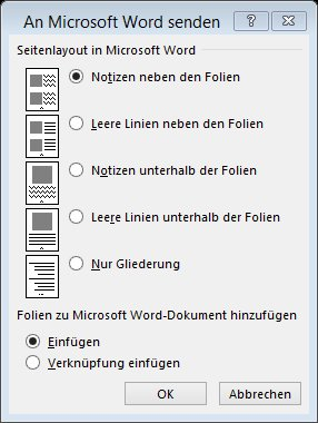 Handzettel in PowerPoint